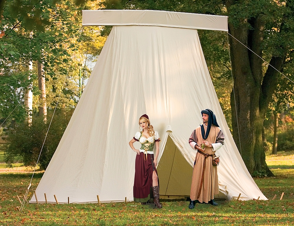 Period Tents and Medieval Pavilions.  My home is my castle  & Period Tents and Medieval Pavilions   FamWest natural tents