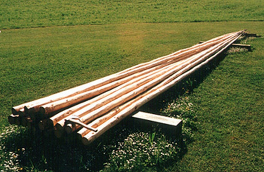 Tipi poles famwest natural tents for Decking boards 6m long